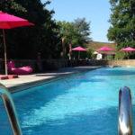 la grande piscine d'architecte des Orangeries