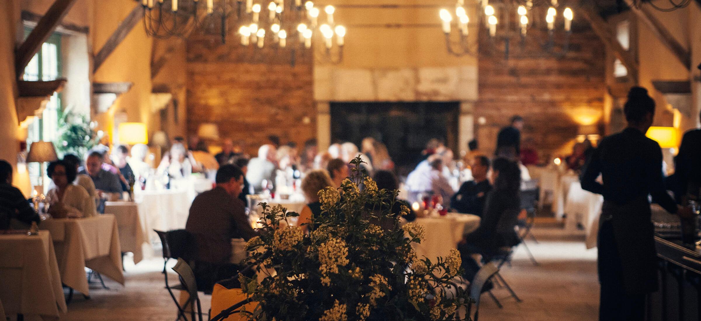 Le cadre exceptionnel du restaurant gastronomique des Orangeries